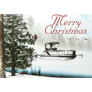 christmas-lake-pontoon