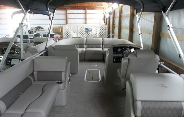 DOUBLE BIMINI! 2018 23SSRCX FASTBACK PREMIUM SMOKEY GRANITE AND CHAMPAGNE