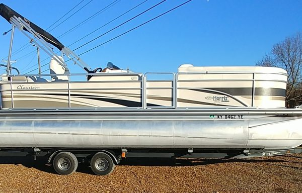 TWO TUBE PONTOON!! Used 2005 Harris Classic 240 with Motor and Tandem Axle Trailer