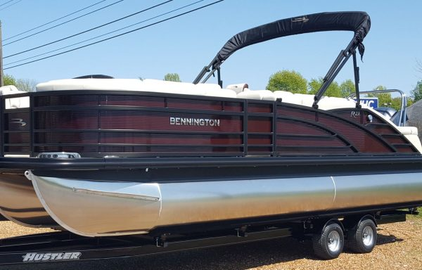 SOLD! 2020 Bennington 23RSB Blackout Triple Tube with Yamaha F250 and Tandem Axle Trailer!